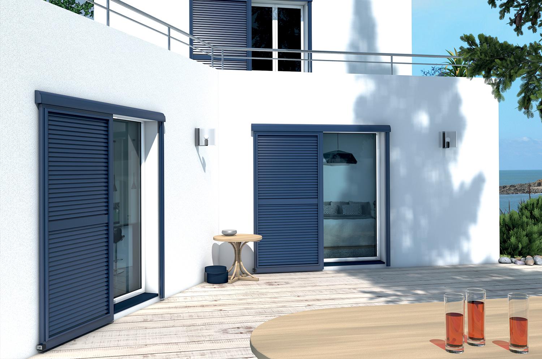 volets baie vitr e coulissants. Black Bedroom Furniture Sets. Home Design Ideas