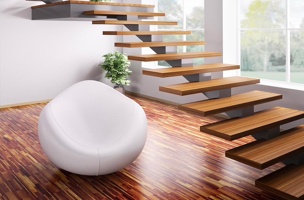 Escalier design limon central